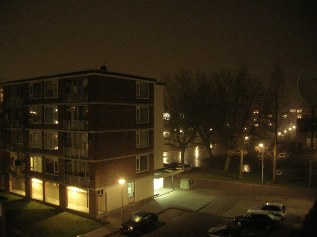 Oosterwei bij nacht