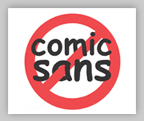 Ban Comic Sans
