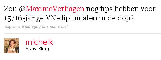 Reactie uitlokken bij @MaximeVerhagen
